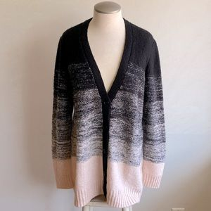 Reitman's Long Sleeve Ombré Cardigan Size L